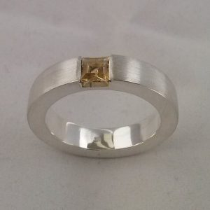 michel kortman zilver ring met citrien