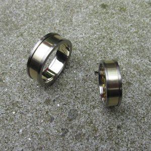 michelkortman goud met titanium aan beide kanten