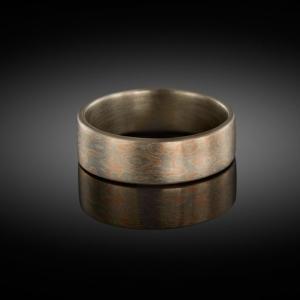 Mokume gane ring (rose gold/white gold)