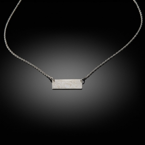 Mokume gane pendant (white gold/silver)