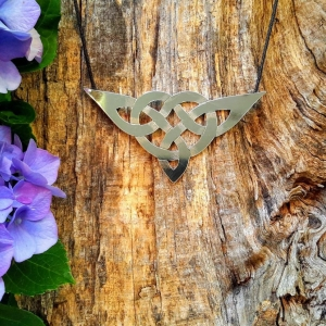 Zilveren hanger 'keltische knoop'